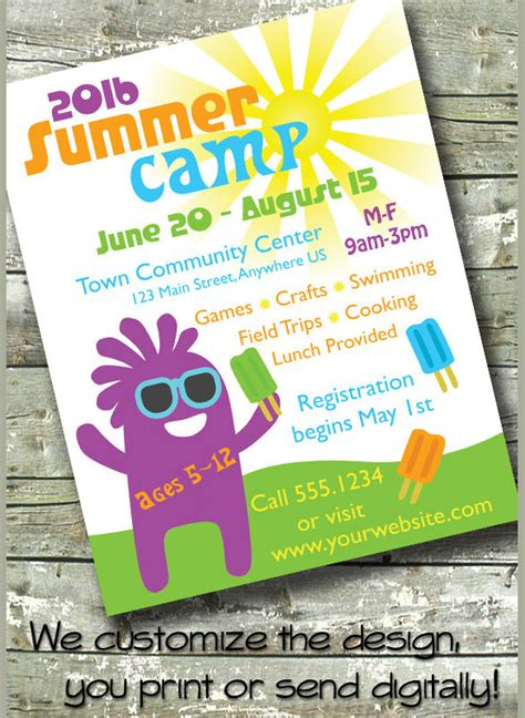 summer camp flyer templates   sample templates