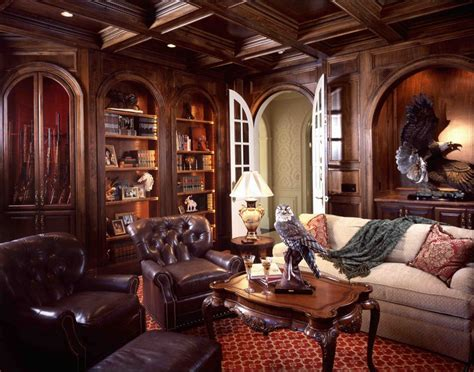 Luxury Traditional Western Informal Living Room With Arch