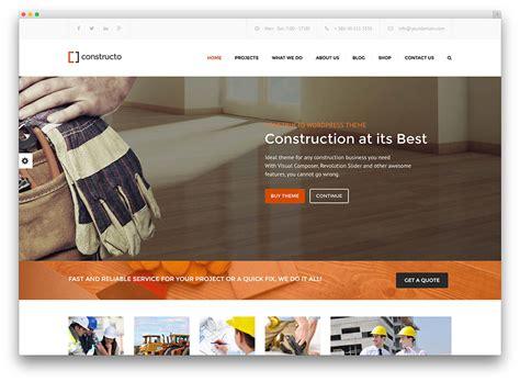 Website Construction 30 Best Construction Company Themes 2017 Colorlib