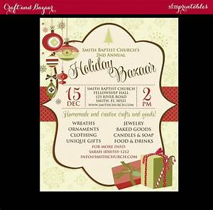 Holiday Bazaar Flyer Holiday Craft Fair Christmas Bazaar Invitation Poster Etsy