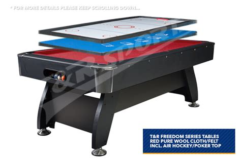 air hockey table accessories new 8ft red pool table snooker billiard air hockey poker
