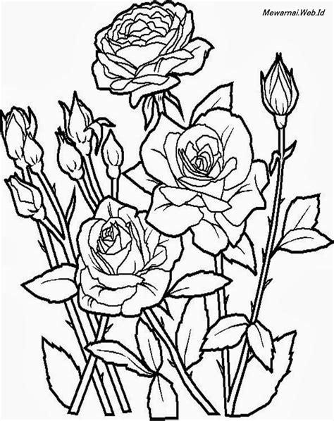 mewarnai gambar bunga dunia mewarnai