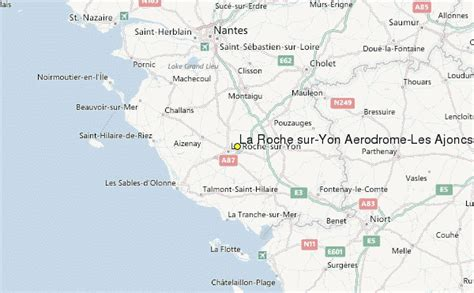 la roche sur yon aerodrome les ajoncs airport weather station record historical weather for la