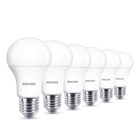 philips led e27 edison light bulbs frosted 13 w