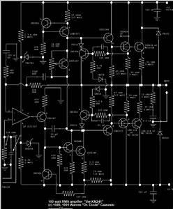 Digital 100w Rms Amplifier Circuit Diagram
