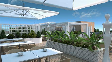 terrazzi di design studio sagitair architettura interior design render