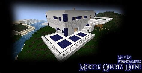 modern quartz house minecraft map