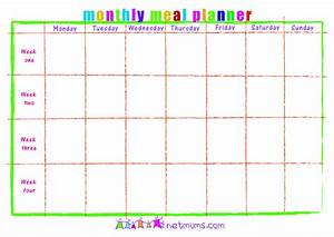 28 useful printable monthly meal planners kitty baby love With monthly dinner menu template