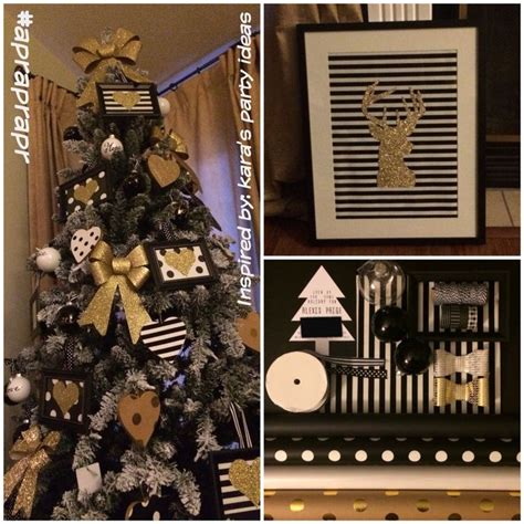 15 best black and gold christmas tree images on pinterest