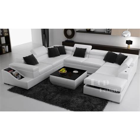 canapé u canapé d 39 angle panoramique en cuir jazzy canapés