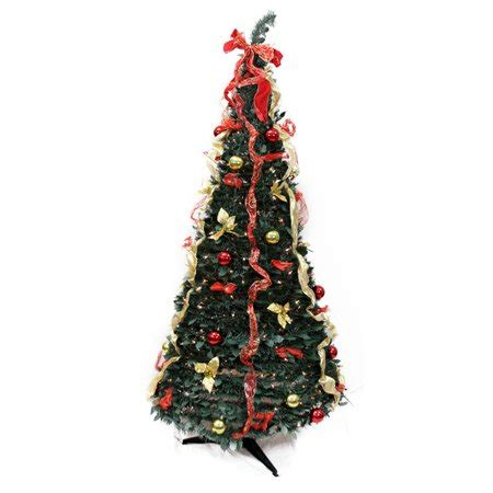 pre decorated trees walmart northlight 6 ft pre lit decorated pop up tree