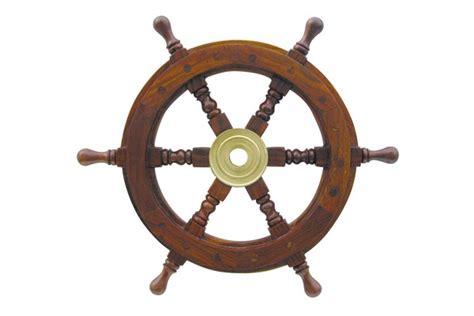 le de bureau laiton roue de gouvernail 30 cm décoration marine