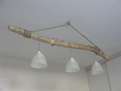 lustre suspendu en bois flott 233 trois les luminaires par patine et badigeon 64