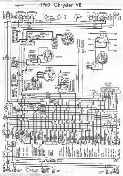 Free Auto Wiring Diagram: 1960 Chrysler V8 Imperial Wiring