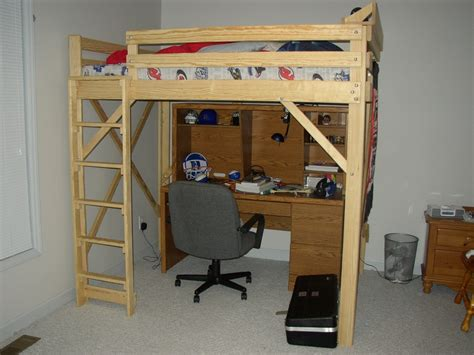 how to build a full size loft bed with desk woodwork plans to build a full size loft bed pdf plans