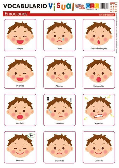 Lámina de vocabulario visual.Emociones | Actividades ...
