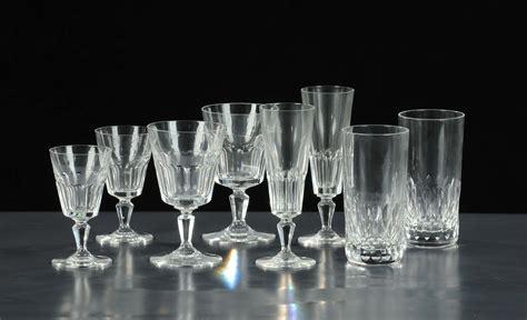bicchieri antichi servizio di bicchieri da dodici in cristallo xx secolo