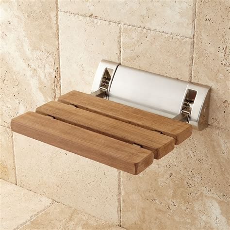 Teak Foldup Shower Seat Bathroom