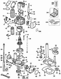 Dewalt Dw621 Router Parts  Type 1  Parts