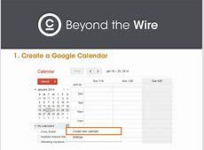 PR 101 How to Build an Editorial Calendar with Google