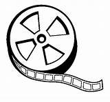 Reel Coloring Film Tickets Clipart Clip Coloringcrew Clipartbest Cliparts sketch template