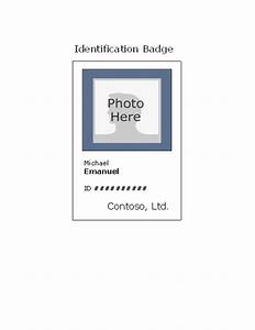employee photo id badge portrait office templates With work badges template