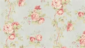 wallpaper vintage inspired floral trail pink green pale