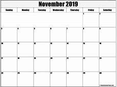 November 2019 Printable Calendar month printable calendar