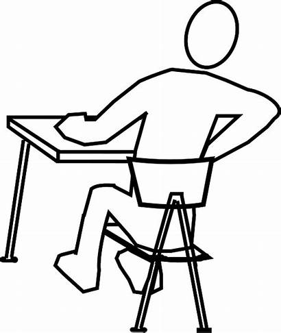 Desk Pain Chair Pixabay Vector Graphic