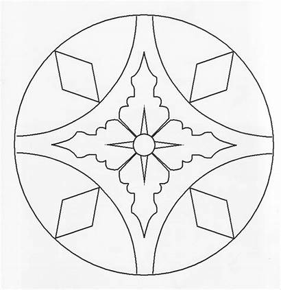 Rangoli Coloring Printable Pages Simple Template Templates