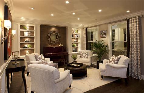 Stylish Transitional Living Room Robeson Design San