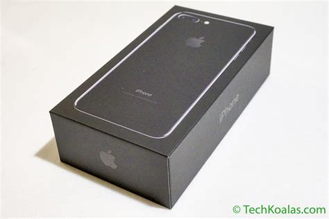 iphone box apple iphone 7 plus jet black what s in the box techkoalas
