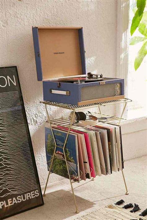 rangement vinyle fonctionnel  elegant en  idees