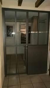 Porte Coulissante Verriere : porte coulissante en galandage style verri re d 39 atelier ~ Carolinahurricanesstore.com Idées de Décoration