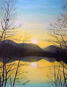 Sunset Mountain | Mountains, Paintings and Canvases