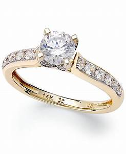 macy39s diamond engagement ring in 14k white gold or 14k With macy s jewelry wedding rings