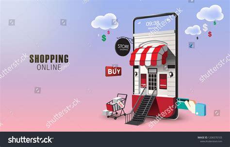 shopping   website  mobile application vector