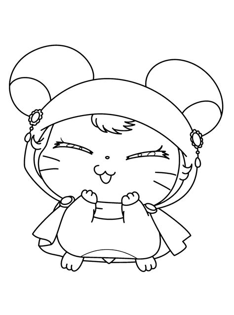 Coloring Pictures by Hamtaro Coloring Pages Bestofcoloring