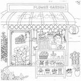 Coloring Pages Colouring Adult Bakery Coffee Flower Fantasy Own Decorate Printable Shops Books Cosmetic Drawings Sketch Colour Para Sold Etsy sketch template