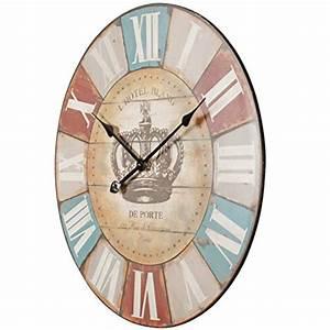 Wanduhr Römische Ziffern : finebuy deko vintage wanduhr xxl 60 cm hotel blance braun r mische ziffern gro e uhr ~ Watch28wear.com Haus und Dekorationen