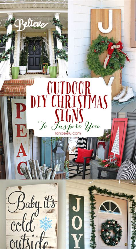 15 diy decorations candystore - Christmas Outdoor Signs