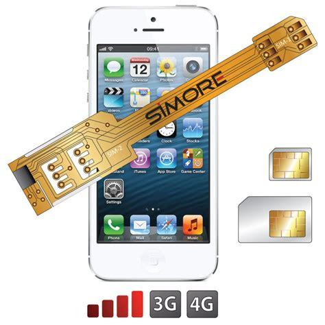 iphone 5s sim x 5s adaptateur dual sim carte sim pour