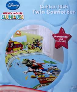 mickey mouse clubhouse twin comforter sheets bedding set