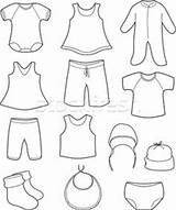 Baby Coloring Clothes Pages Clothing Print Children Drawing Colouring Winter Outfits Clothe Prints Printable Shower Books Laundry Paper Child Doodle sketch template