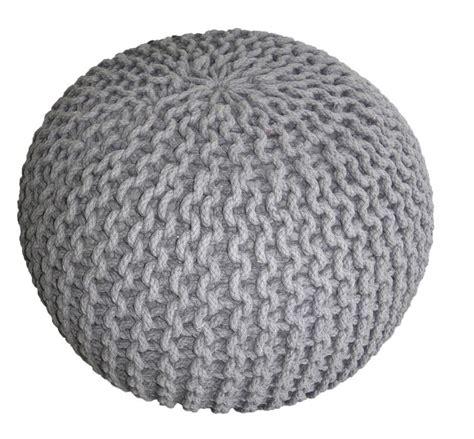 pouf chambre pouf tricot gris déco chambre petits enfants