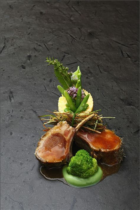 lamb plating  food plating food inspiration food photography