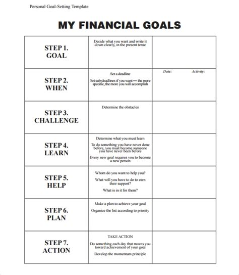 sle goal planning template 9 free documents in pdf word