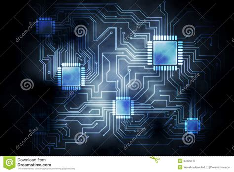 Circuit Board Graphic Royalty Free Stock Photography