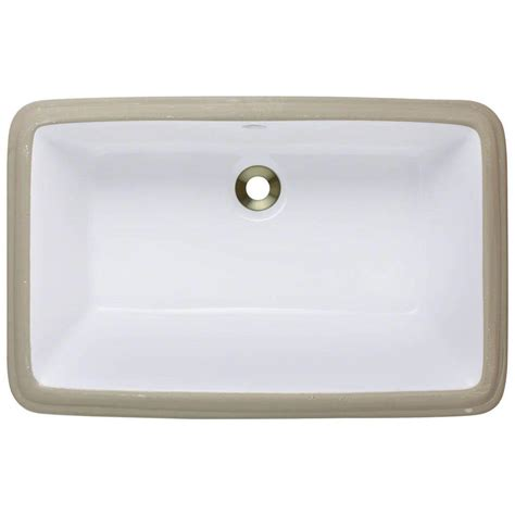 polaris sinks undermount porcelain bathroom sink in white