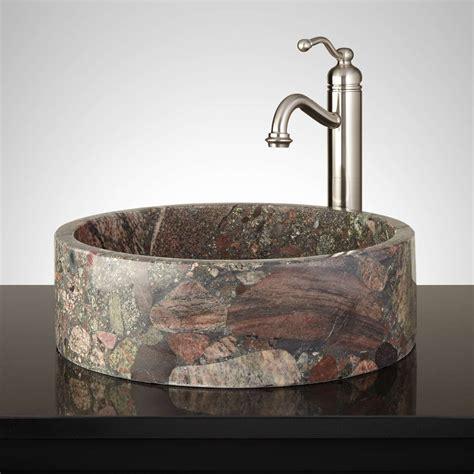 tub basin marrow brown granite vessel sink vessel sinks